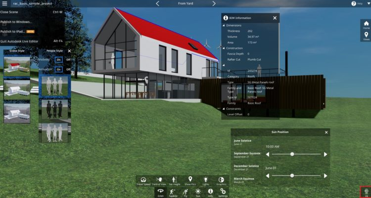 Prezentace projektu v Autodesk Live