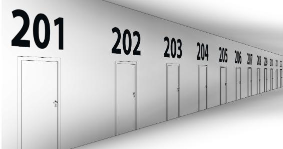 Automatické číslování dveří v Dynamu