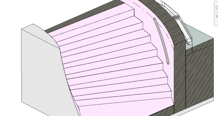 Jak na připojení stěn ke schodišti vytvořeném komponentou na místě
