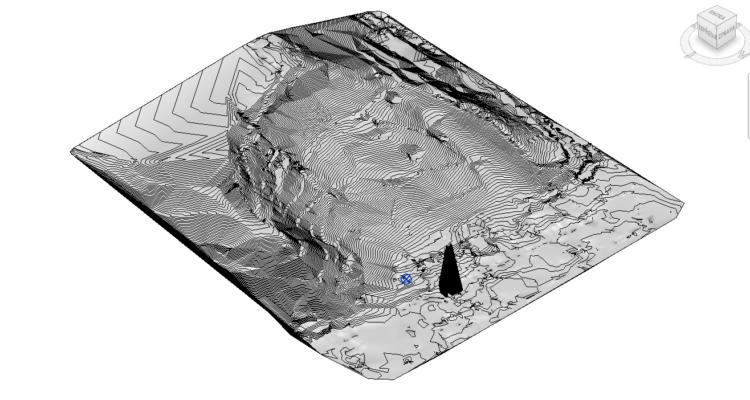 Terén v Revitu z 2D podkladu